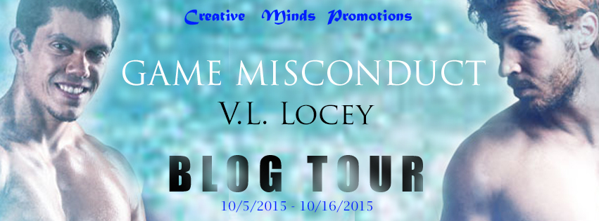 Blog Tour: Guestpost, Excerpt & Giveaway V.L Locey - Game Misconduct